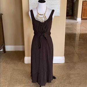 Banana Republic vintage faux wrap brown dress